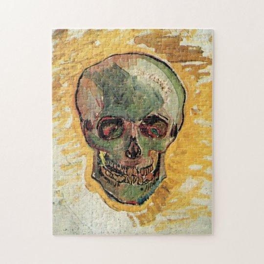 Van Gogh Skull, Vintage Still Life Impressionism Jigsaw