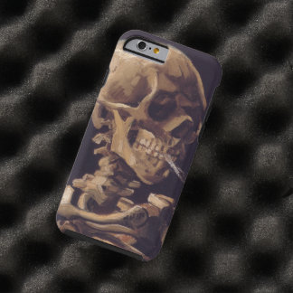 Van Gogh Skull with Burning Cigarette Tough iPhone 6 Case