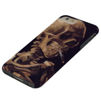 Van Gogh Skull with Burning Cigarette Tough iPhone 6 Plus Case