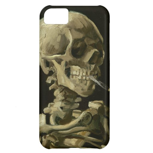Van Gogh - Skull with Burning Cigarette Cover For iPhone 5C