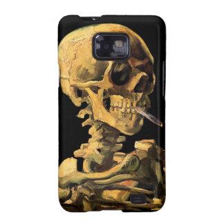Van Gogh Skull With Burning Cigarette Samsung Galaxy S Cases