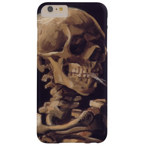 Van Gogh Skull with Burning Cigarette Barely There iPhone 6 Plus Case