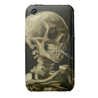 Van Gogh - Skull with Burning Cigarette iPhone 3 Cover