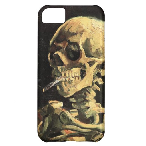 Van Gogh Skull with Burning Cigarette iPhone Case Case For iPhone 5C