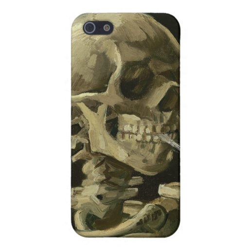 Van Gogh - Skull with Burning Cigarette Covers For iPhone 5