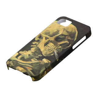 Van Gogh Skull with Burning Cigarette Vintage Art iPhone 5 Cover