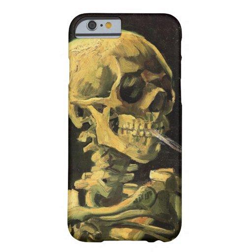 Van Gogh Skull with Burning Cigarette, Vintage Art iPhone 6 Case