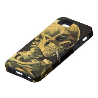 Van Gogh Skull with Burning Cigarette Vintage Art iPhone 5 Case