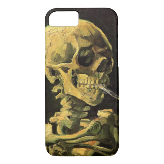 Van Gogh Skull with Burning Cigarette, Vintage Art iPhone 8/7 Case