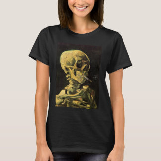 Van Gogh Skull with Burning Cigarette, Vintage Art T-Shirt