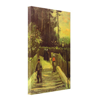 Van Gogh; Sloping Path in Montmartre, Vintage Art Stretched Canvas Prints