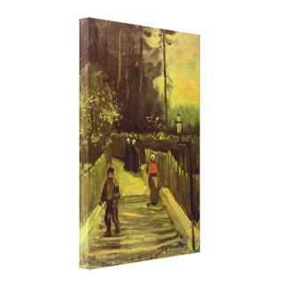 Van Gogh; Sloping Path in Montmartre, Vintage Art Canvas Print