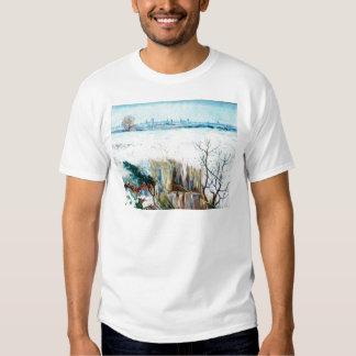 Van Gogh Snowy Landscape w Arles, Vintage Fine Art T Shirt