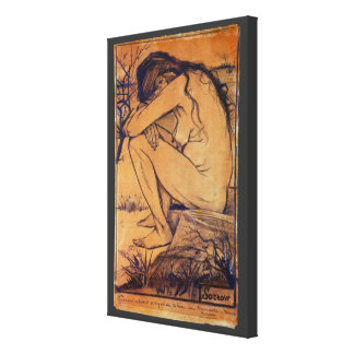 Van Gogh, Sorrow, Vintage Post Impressionism Art Canvas Print