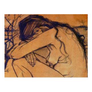 Van Gogh, Sorrow, Vintage Post Impressionism Art Postcards