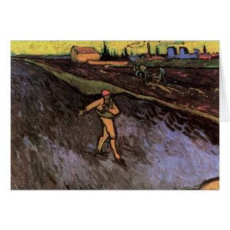 Van Gogh Sower Outskirts of Arles, Vintage Peasant Card