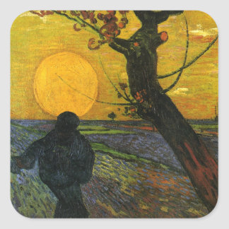 Van Gogh Sower With Setting Sun Stickers