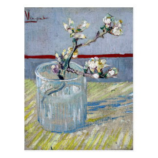 van Gogh Spring Flowering Almond in a Glass Postcard