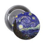 Van Gogh Starry Night 6 Cm Round Badge