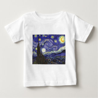 Van Gogh Starry Night Baby T-Shirt