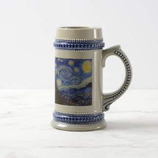 """Van Gogh, """"Starry Night"""" Beer Steins"""