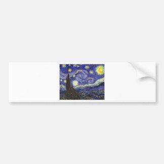 Van Gogh Starry Night Bumper Sticker