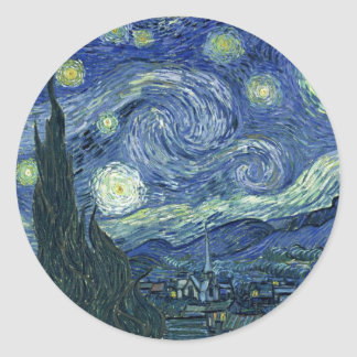 Van  Gogh Starry Night Classic Round Sticker