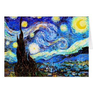 Van Gogh Starry Night Fine Art Card