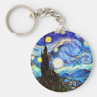 Van Gogh Starry Night Fine Art Key Ring