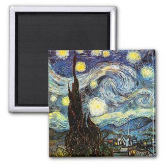 Van Gogh Starry Night Fine Art Magnet