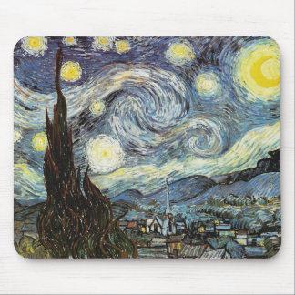 Van Gogh Starry Night Fine Art Mouse Mat