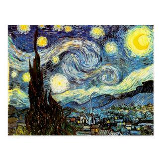 Van Gogh Starry Night Fine Art Postcard