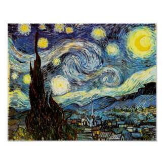 Van Gogh Starry Night Fine Art Poster