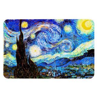 Van Gogh Starry Night Fine Art Rectangular Photo Magnet