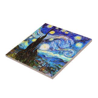 Van Gogh Starry Night Fine Art Tile