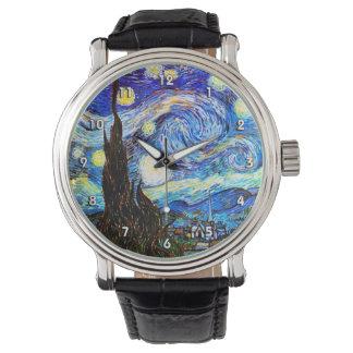 Van Gogh Starry Night Fine Art Wristwatches