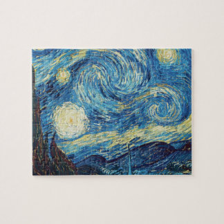 Van Gogh Starry Night Impressionist Painting Jigsaw Puzzle