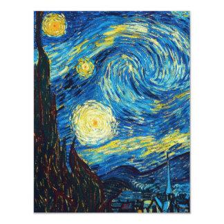 Van Gogh Starry Night Inivtations 11 Cm X 14 Cm Invitation Card
