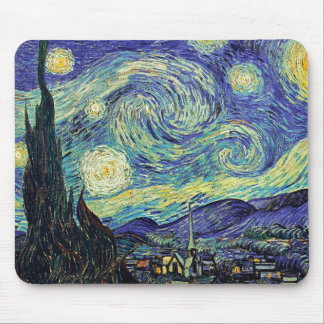 Van Gogh Starry Night Mouse Mat