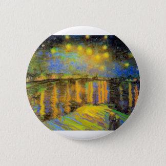 Van Gogh - Starry Night On The Rhone 6 Cm Round Badge