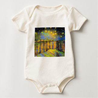 Van Gogh - Starry Night On The Rhone Baby Bodysuit
