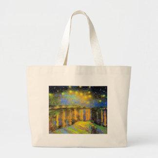 Van Gogh - Starry Night On The Rhone Tote Bag
