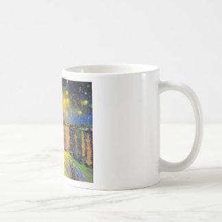 Van Gogh - Starry Night On The Rhone Basic White Mug