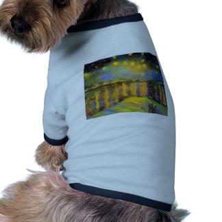 Van Gogh - Starry Night On The Rhone Dog Tee