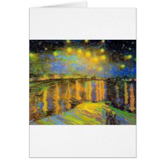 Van Gogh - Starry Night On The Rhone Greeting Card