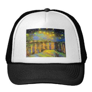 Van Gogh - Starry Night On The Rhone Trucker Hats