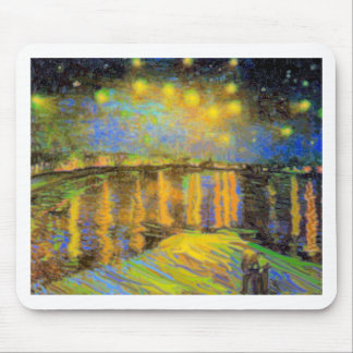 Van Gogh - Starry Night On The Rhone Mouse Pads