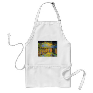 Van Gogh - Starry Night On The Rhone Standard Apron