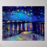 Van Gogh Starry Night Over Rhone (F474) Fine Art