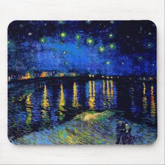 Van Gogh Starry Night Over Rhone  (F474) Fine Art Mouse Mat